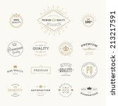 set of premium quality stickers ... | Shutterstock .eps vector #213217591