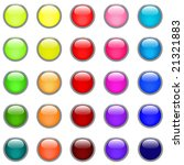 glossy buttons in different... | Shutterstock .eps vector #21321883