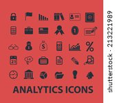 analytics  infographics ... | Shutterstock .eps vector #213221989