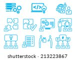 modern metro web icon set | Shutterstock .eps vector #213223867