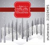 christmas design over winter...   Shutterstock .eps vector #213234391