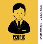 people design over yellow... | Shutterstock .eps vector #213235831