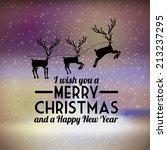 christmas design over blur... | Shutterstock .eps vector #213237295