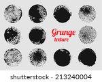 grunge circle vector element... | Shutterstock .eps vector #213240004