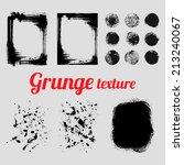 grunge vector texture set ... | Shutterstock .eps vector #213240067