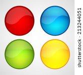 web buttons set | Shutterstock .eps vector #213244051