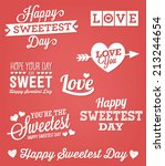 happy sweetest day vector set   ...   Shutterstock .eps vector #213244654