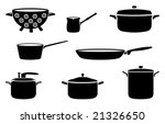 pots and pans black and white... | Shutterstock .eps vector #21326650