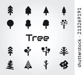 tree icons | Shutterstock .eps vector #213269191
