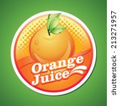 orange juice label | Shutterstock .eps vector #213271957