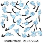 illustration of hand with... | Shutterstock .eps vector #213272065