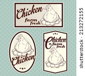 chicken meat labels | Shutterstock .eps vector #213272155