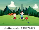 Illustration Of Kids   Boy And...