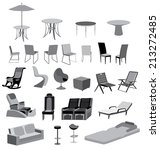 Illustration Of Furniture...