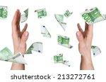 one hundred euro money... | Shutterstock . vector #213272761
