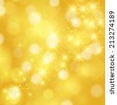 glittering stars on golden... | Shutterstock . vector #213274189