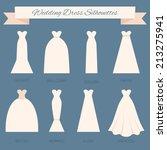 different styles of wedding... | Shutterstock .eps vector #213275941