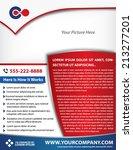 vector brochure  flyer ... | Shutterstock .eps vector #213277201