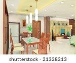a kind of interior design plan | Shutterstock . vector #21328213