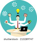 flat design vector illustration ... | Shutterstock .eps vector #213289747