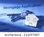 mortgage application to go | Shutterstock . vector #213297007
