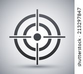 vector target icon | Shutterstock .eps vector #213297847