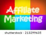 affiliate marketing concept... | Shutterstock . vector #213299635