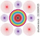 spirograph pattern isolated on... | Shutterstock .eps vector #213300925