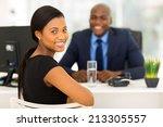 attractive african office...   Shutterstock . vector #213305557