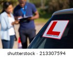 african learner driver and... | Shutterstock . vector #213307594