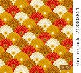 traditional japanese flower... | Shutterstock .eps vector #213308851