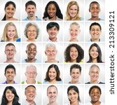 group of smiling people | Shutterstock . vector #213309121