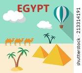 egypt travel flat design...