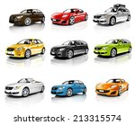 Stock photo collection of d cars isolated 213315574