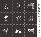 vector party icons set on black ... | Shutterstock .eps vector #213318529