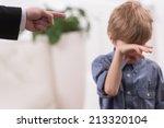 strict father discipline... | Shutterstock . vector #213320104