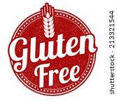 gluten free grunge rubber stamp ... | Shutterstock .eps vector #213321544