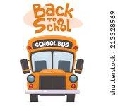 school bus. vector illustration ... | Shutterstock .eps vector #213328969