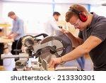 student in carpentry class... | Shutterstock . vector #213330301