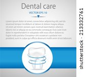 realistic tooth. dental care... | Shutterstock .eps vector #213332761