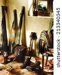 hunting equipment inside... | Shutterstock . vector #213340345