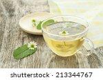 chamomile and mint tea | Shutterstock . vector #213344767