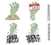 funny halloween zombie hand... | Shutterstock .eps vector #213345949