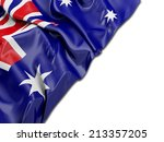 australian wavy flag with | Shutterstock . vector #213357205