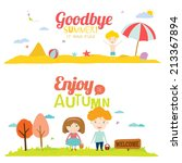 set of vector design seamless... | Shutterstock .eps vector #213367894