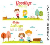 set of vector design seamless... | Shutterstock .eps vector #213367924