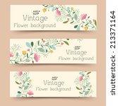 retro flower banners concept.... | Shutterstock .eps vector #213371164