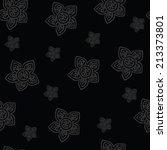 vector pattern of flowers  | Shutterstock .eps vector #213373801
