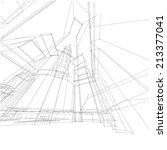 abstract building sketch... | Shutterstock . vector #213377041