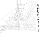 abstract building sketch... | Shutterstock . vector #213377101